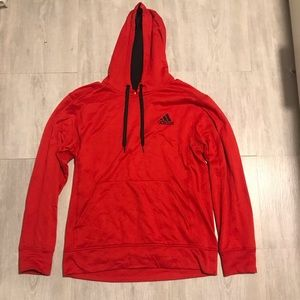 Adidas red sweatshirt